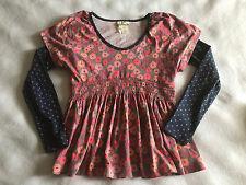 Matilda Jane 10 Secret Fields Rosey Trellis Tee Polka Dot Layered L/S Top Shirt