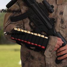 Tactical 10 Shotgun Shell Arm Pouch bandolier on hand 12GA 20GA Ammo Holder BK