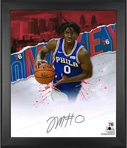 """Tyrese Maxey Philadelphia 76ers Framed Autographed 20"""" x 24"""" In-Focus Photograph"""
