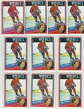 (10) 1984-85 TOPPS GUY LAFLEUR #81 NM/MINT LOT CENTERING VARIES SWEET