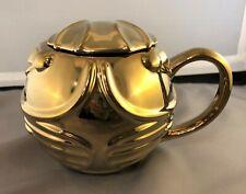 Hallmark Harry Potter 2019 Golden Snitch 2 pc. covered coffee mug 20 oz. golden