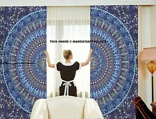 Indian Elephant Mandala Cotton Curtain Tapestry Door Window Hanging Curtain Set