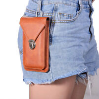 Universal Leather Bag For Mobile Phone Belt Loop Hook Cover Case Pouch Holster