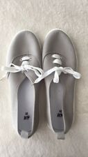 HM Gray Lace Up Sneakers Shoes NWOT Women's Size 39 8.5