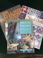 Mixed Lot Quilting Books includes Ultimate Quilting, 500 Patterns & Small Quilts