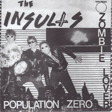 """Insults-Populations Zero b/w Zombie Lover 7"""" - RE of 1979 slobbering KBD Punk"""