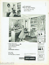 PUBLICITE ADVERTISING 115  1959  Saint-Gobain   miroitier  glace miroir