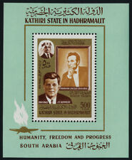 Aden - Kathiri State in Hadhramaut MIBK 14A MNH Abraham Lincoln, J.F. Kennedy