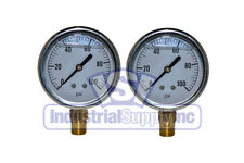 "Liquid Filled Pressure Gauge | 0-100 PSI | 2-1/2"" Face 