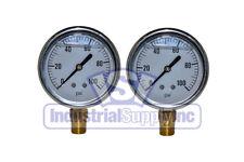 Liquid Filled Pressure Gauge 0 100 Psi 2 12 Face 14 Lm 2 Pack