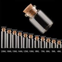 1/5 / 10pcs Transparente Klarglasflasche mit Korken 4-20ML Craft F7H8