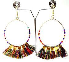 Tassel Earrings Jhumka Jhumki Chand Bali Drop Dangle Long Hoop Chic Jewelry B7