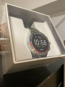 Fossil Garrett HR Gen 5 46mm Stainless Steel Smart Watch, Silver-Tone (FTW4040)