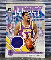 🔥2020-21 Donruss Magic Johnson JS-MJN Jersey Series Patch Game Worn RelicHOF
