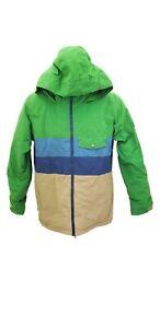 Burton DryRide Youth Green Snowboarding Ski Hooded Jacket XL