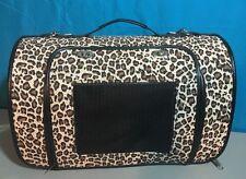 New listing Small / Medium Leopard Print Tote Pet Carrier