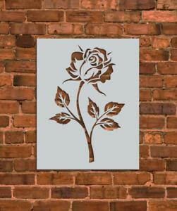 Rose Flower Stencil