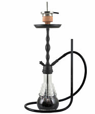 AMY Shisha Glorious 630 D-01| black (schwarz) - black powder (matt-schwarz)