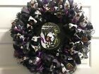 New 24-inch Purple And Black Deco Mesh Halloween Witch Wreath
