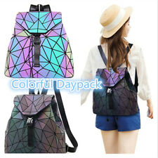 Geometric Luminous Women Backpack Holographic Reflective Flash Colorful Daypack