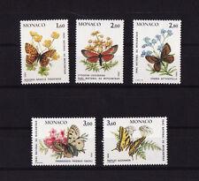MONACO  faune  papillons   1984   num: 1420/24   **