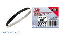 BGS 8853-1 Schleifbänder 10 mm x 330 mm für BGS 8853 Bandschleifer, 12 Stück