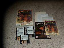 "Indiana Jones and the Fate of Atlantis Macintosh 3.5"" disks with manual & box"