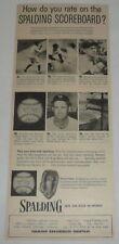 1955 Spalding baseball gloves ad ~ BABE RUTH, BILL DICKEY, ALVIN DARK, more