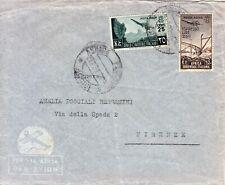 RRRR 1939 ESPRESSO POSTA AEREA ERITREA ASMARA A FIRENZE RARA AFFRANC. £ 2,75