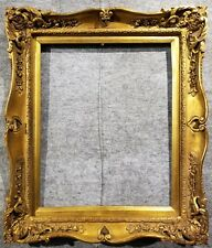"4"" Gold VINTAGE ANTIQUE FINE HAND-CARVED PICTURE FRAME  Frames4art 1406G 16x20"