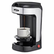 Bella Single Serve One Cup Coffee Maker 600 Watts Black Stainless Steel Cabinet