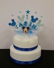 Mickey mouse style Birthday, Christening Cake Topper / decoration  personalised