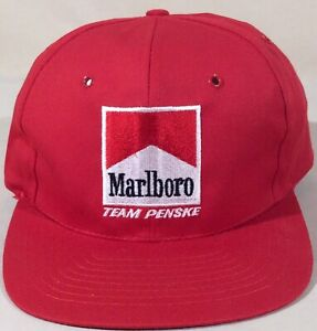 Vintage Embroidered Marlboro Team Penske Snapback Hat Cigarette NEW