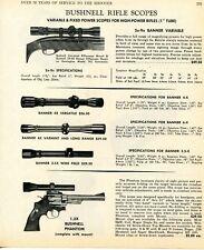 1970 Print Ad of Bushnell Banner Rifle Scopes & Phantom Revolver Scope