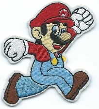 Super Mario Embroidered Patch Iron-on Motif Art Good Luck