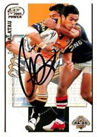 ✺Signed✺ 2005 WESTS TIGERS NRL Premiers Card DENE HALATAU