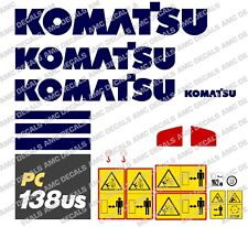 Komatsu PC138US-10 Digger Decalcomania Sticker Set