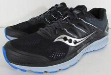 $130 Saucony Mens Omni 16 Running Sneaker Shoes, Black/Grey/Blue, US 11