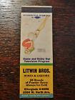 Vintage Matchcover: Litwin Bros., Beer, Wine, Milwaukee, WI  29