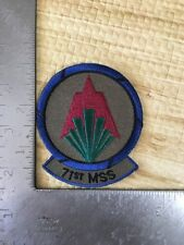 United States Air Force 71st Mission Support Squadron Patch  USAF