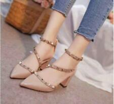 Pointed Studded Shoes (Beige - Size 35)