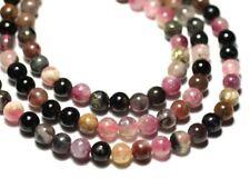 Fil 39cm 67pc env - Perles de Pierre - Tourmaline Multicolore Boules 6mm