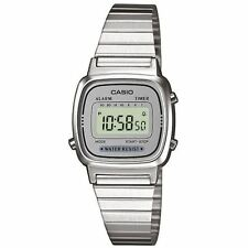 Casio Ladies Retro Silver LA670WEA-7EF Classic Digital Stopwatch Alarm Watch New