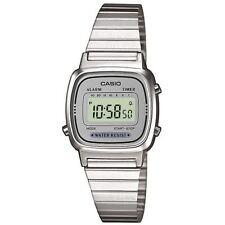 Casio Ladies Retro Silver LA670WEA-7EF Classic Digital Stopwatch Alarm Watch New