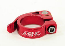 AZONIC GONZO SUPER LIGHT ALUMINUM QUICK RELEASE SEAT POST CLAMP, 34.9, RED