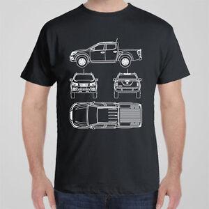 Funny cool T-shirt Nissan NAVARA blueprint D21 D22 D23 D40, 4WD gift for men