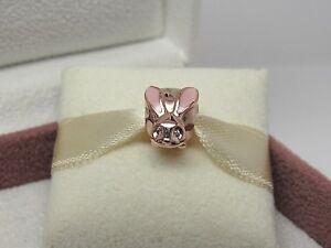 NEW Pandora ROSE Cute Bunny Charm Easter #787061EN160 Rabbit