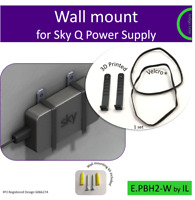 Sky Q power supply wall mounting bracket. Holder. Made in the UK by us.