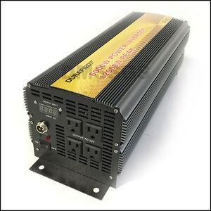 BRAND NEW DURAFIED 6000/12000W 12V DC TO 120V AC POWER INVERTER!!