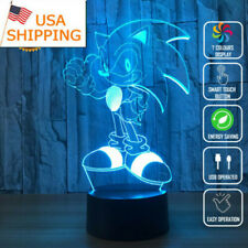 Sonic the Hedgehog  Gift Night Light Acrylic LED 3D Touch Table Desk Lamp toy